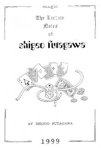 1999 Lecture Notes by Shigeo Futagawa